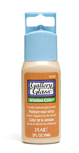 Plaid Gallery Glass Window Color in Assorted Colors (2 oz), 16020, Amber