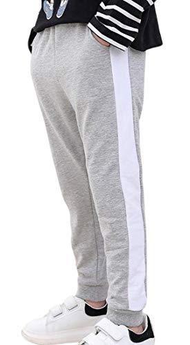 Plus Nao(プラスナオ) レギンスパンツ レギパン スウェットパンツ ロングパンツ 長ズボン 子供服 キッズ ボトムス スエット ウエストゴム グレー 110cm