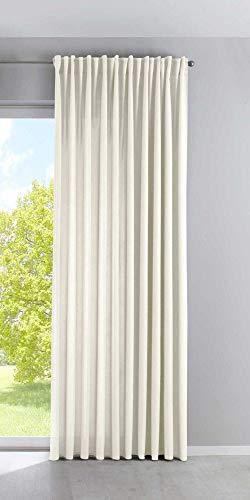 Vorhang Blickdicht »Palermo« HxB 250x300 cm Creme Gardine Extra Breit Matt Lichtdurchlässig Verdeckte Schlaufen Raffhalter Gardinenband, 100002651