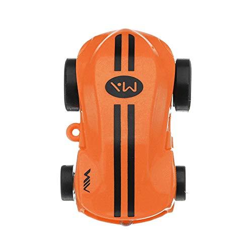 VIDOO Alta Velocidad Coche Loco Spinner 360 Girando con La Luz Parpadeante Novedades Juguetes-Naranja