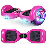 UNI-SUN Hoverboard Two-Wheel Self Balancing Hoverboard for Kids with LED Lights - UL 2272 Certified, Purple