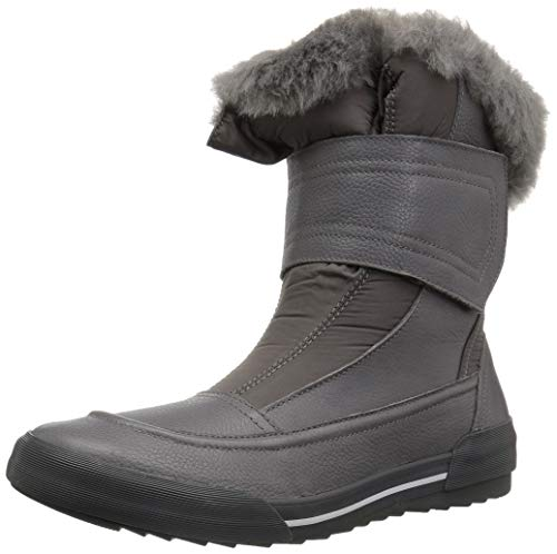 CLARKS Women's Gilby Merilyn Snow Boot, Grey Leather, 110 M US
