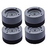 Aardich Lavadora Pies Anti vibración de la Lavadora Pies Choque y cancelación de Ruido Soporte Antideslizante Mat para lavadoras y DryersGray 4PCS