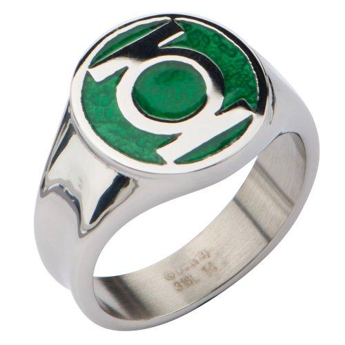 DC Comics Anel masculino lanterna verde de aço inoxidável (8)