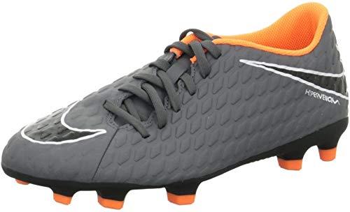 Nike Hypervenom Phantom 3 Club (FG), Scarpe da Calcio Uomo, Grigio (Dark Grey/Total Orange 081), 42 EU