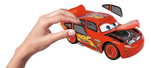 Dickie Toys 203084019 - RC Cars 3 Jackson Storm Crash Car, ferngesteuertes Fahrzeug, 1:24, 17cm & Toys 203084018 RC Cars 3 Lightning McQueen Crazy Crash Ferngesteuertes Fahrzeug, bunt