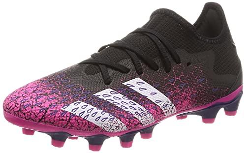 adidas Predator Freak .3 L MG, Scarpe da Calcio Uomo, Core Black/Ftwr White/Shock Pink, 40 2/3 EU