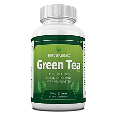 Green Tea Extract Capsules 850mg High Strength Fat Burning Weight Loss Scientifically Proven Diet Supplement can Reduce Free Radicals