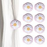 Mousyee Bettdeckenbezug-Clips, Bettdeckenhalter 8 Stück Nadelfreie Trösterbefestigungen in Gänseblümchenform Anti-Rutsch-Bettbezugclips Tröstergreifer, um die Bettdecke an Ort und Stelle zu Halten