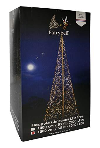 LED Weihnachtsbaum Fairybell 4000 Lichter warmweiß für 10 m Fahnenmast