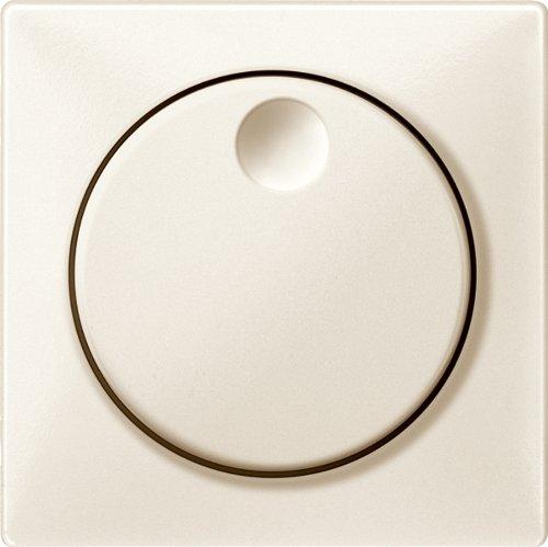 Merten MEG5250-4244 Zentralplatte mit Drehknopf, weiß, System Fläche