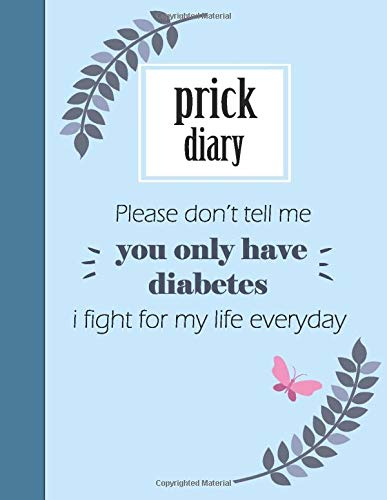 I fight for my life everyday: floral Blood Sugar Log Book with quote,  Weekly Blood Sugar Diary  Enough For 122 Weeks  more than 2 Years  4 Time ... Lunch, Dinner, Bedtime) 8.5x11 inch 124 Page