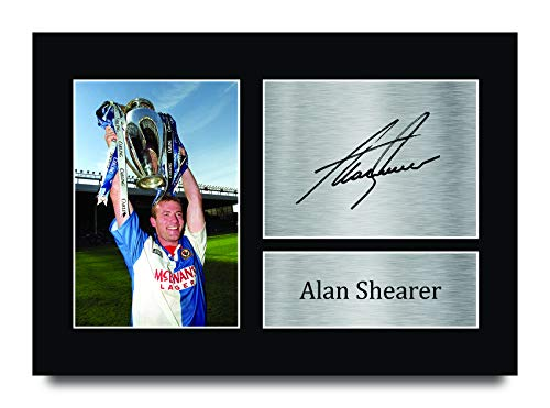 HWC Trading A4 Alan Shearer Blackburn Rovers 1994/1995 Champions Gifts Printed Signed Autograph Picture for Fans and Supporters - A4