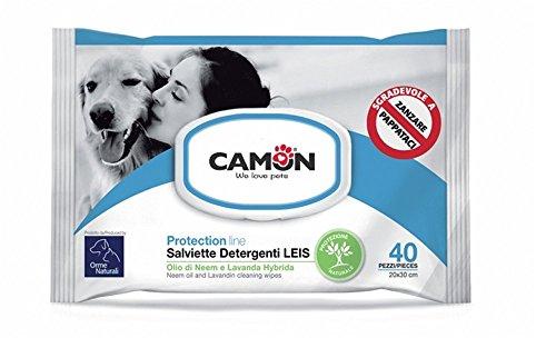 Camon Reinigungstücher für Hunde mit Niemöl und Hybrid-Lavandula