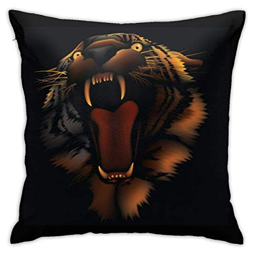 N/Q Fodere per Cuscini Personalizzate Fire Tiger, Fodera per Cuscino Decorativa per Divano per Auto Decorazioni per la casa 45 x 45CM