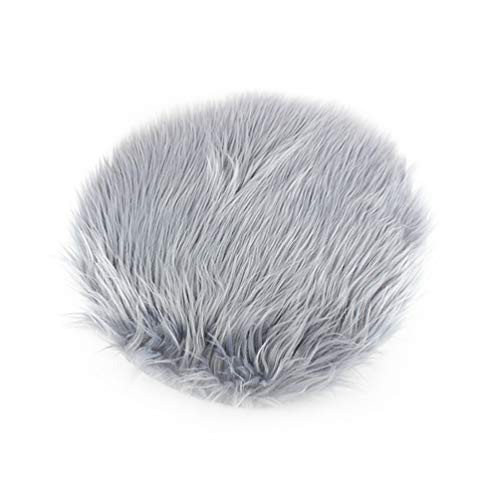 DDELLK Kunstwol Warmer wollen tapijt, cirkel, super zacht fluffy, elegante chique stijl kussens- kunststoffen speelhuis-tapijten, slaapkamer, bank, woonkamer, decoratie