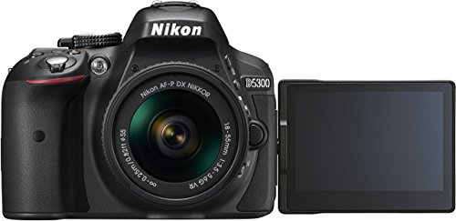Nikon D5300 Digital SLR Camera - Black (24.2 MP, AF-P 18-55mm VR Lens Kit) 3-Inch LCD Screen - International Version (No Warranty)