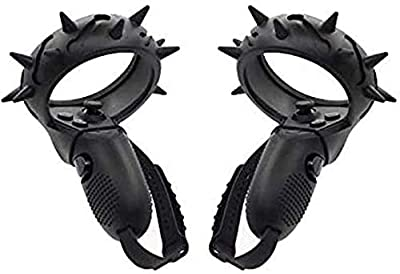 Controller Protector Grip Cover for Oculus Quest and Rift S, Scratch Resistant Anti Drop Knuckle Strap, Accessories Handle Protective Sleeve Spiky Rockstar VR Virtual Reality (Black) from Vivid Brands, LLC