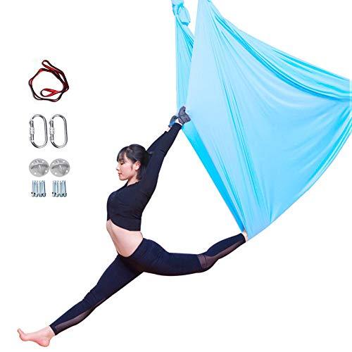 ZHENWEN Seta Aerea Kit Altalena Yoga Amaca Yoga Danza Aerea Yoga Aerea Sete Aeree Antigravità Yoga Amaca per Interni O Esterni 5 M