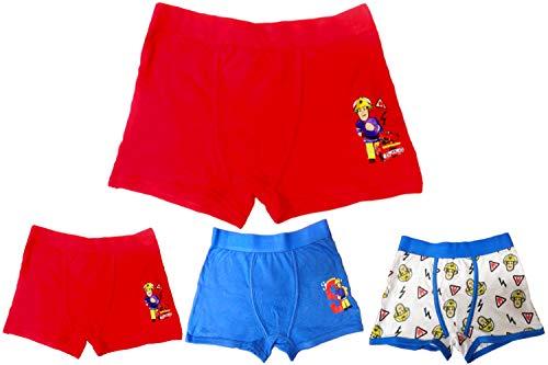 Unbekannt Feuerwehrmann Sam - Kinder Boxershorts Jungen, 3er-Pack (122 (Herstellergröße: 5-6 Jahre))