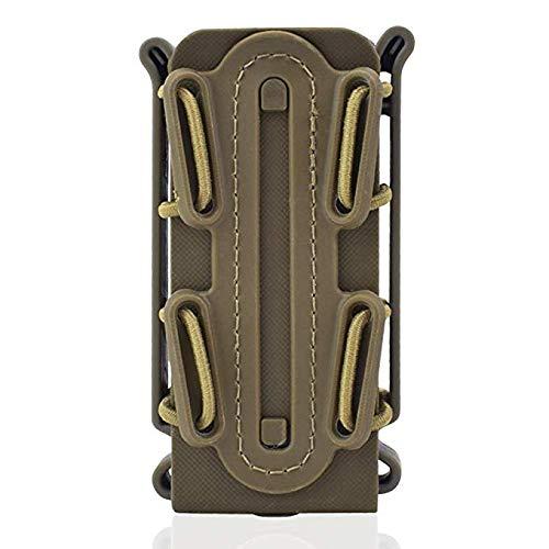 Gexgune 9mm Universal Pistole Magazin Beutel Holster Molle Gürtel Clips Taktische Fastmag Halter weiche Shell Tasche Singal Mag Carrier Jagd Airsoft Gear Fit für 45APC AK M4 Glock