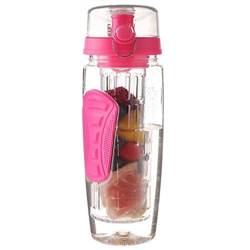 SYT Water cup Sports Citron Bouteille d'eau Tour randonnée Portable d'escalade Camp Bouteilles, Rose