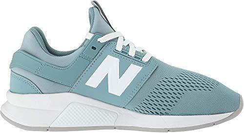 New Balance 247v2, Zapatillas Deportivas. Mujer, Azul Ahumado y Blanco, 42.5 EU