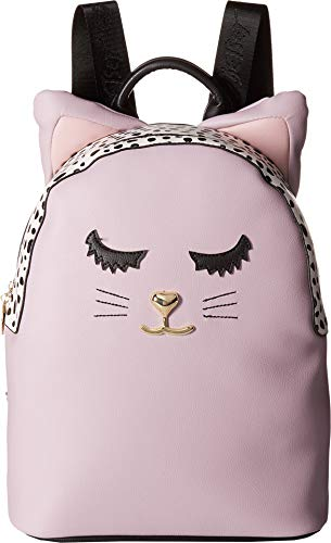 Luv Betsey Women's LBMilla PVC Kitch Backpack w/Cat Face & 3D Ears Mauve One Size