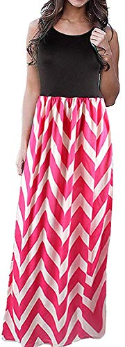 Huixin Damen Boho Schwanger Umstandskleid Chiffon Lang Brautkleider Elegante High Waist Striped Kleid Maxi Schwangerschafts (Color : Color-H, Size : M)