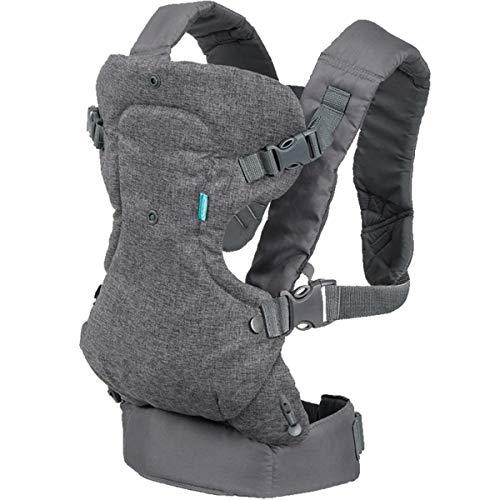 RUIBZTZ Portabebés Convertible 4 En 1 Portabebés, Portabebés para Todas Las Posiciones De Transporte, Bebés Recién Nacidos Y Niños De hasta 32 Lbs, Gris