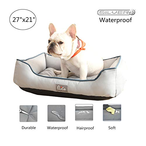 Cheerhunting Waterproof Dog Bed Outdoor Dog beds Washbale with Removable Cover for Small Medium Dogs