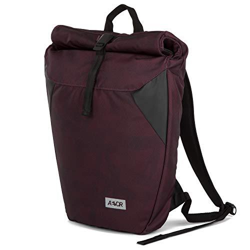 AEVOR Rolltop - erweiterbarer Rucksack, wasserabweisend, gepolsterter Rücken - Palm Red