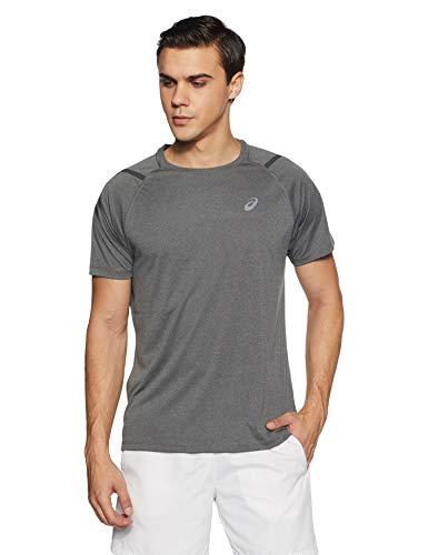 ASICS Icon - Camiseta de Running para Hombre, Hombre, 2011A259, Gris Oscuro, Large