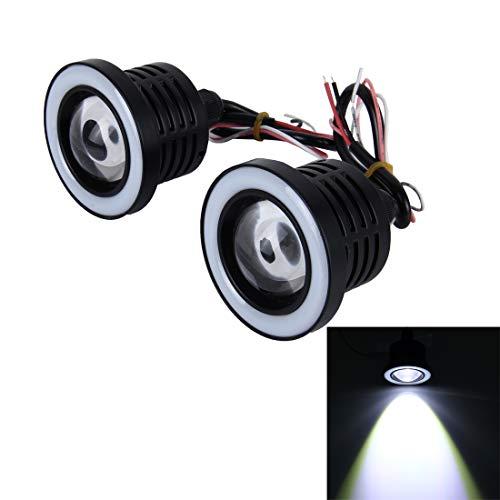 Zhangl 2 x 2,5 inch auto buitenverlichting 10 W 900 lm 6000 K mistlampen met gekleurd licht van de hoek DC 12 V mistlampen, Wit licht