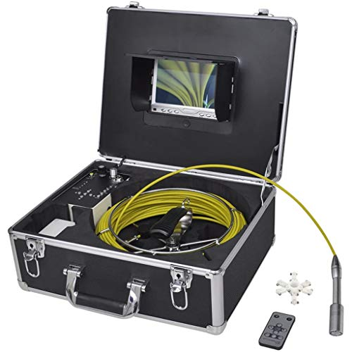 vidaXL Kanalkamera Inspektionskamera Rohrkamera DVR Wasserdicht 30m Schiebeaal
