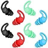 4 Pairs Reusable Sleeping Earplugs, Moldable Silicone Earplugs,...