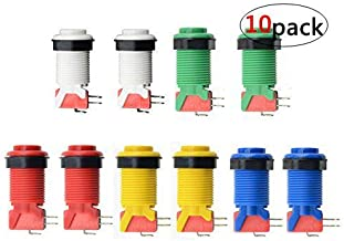 WMYCONGCONG 10 PCS Push Button with Microswitch for JammaMame Arcade Video Games DIY