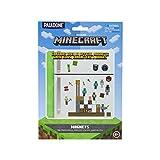 Paladone Minecraft Build a Level Fridge Magnets, rubber