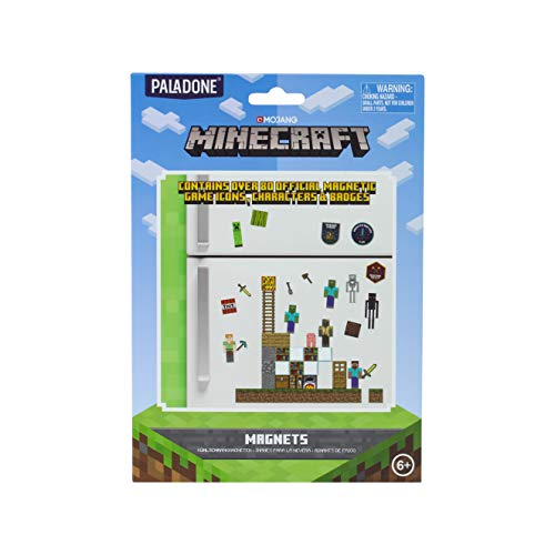 Paladone PP6734MCF Minecraft Build a Level Fridge Magnets, rubber