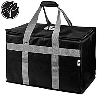 Insulated Food Delivery Bag | Food Warmer for Catering and Delivery | Uber Eats GrubHub DoorDash Restaurant Delivery | Use as a Grocery Bag or Insulated Tote | Commercial Quality Reusable Cooler Bag