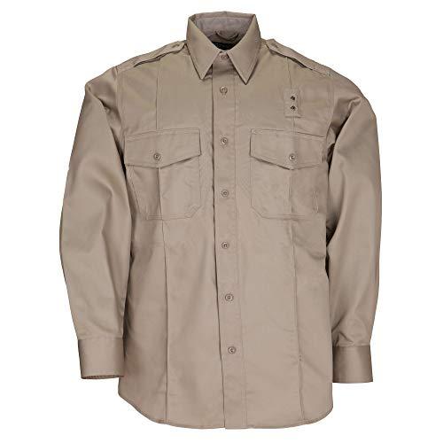 Photo of 5.11 Tactical #72344 Men's PDU Long Sleeve Twill Class A Shirt (Silver Tan, 4X-Large Talll)