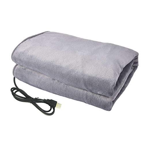 Manta con calefacción eléctrica USB, calefacción segura, ligera, de felpa suave y...