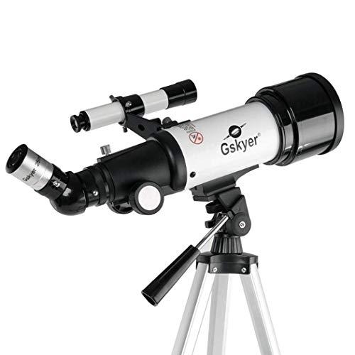 LONGJUAN-C Fernglas Brennweite 400mm, Teleskop for Kinder Erwachsene Astronomie Anfänger, Refraktor Teleskop Astronomie, bewegliches Spielraum-Teleskop mit Stativ, Rucksack Hohe Energie