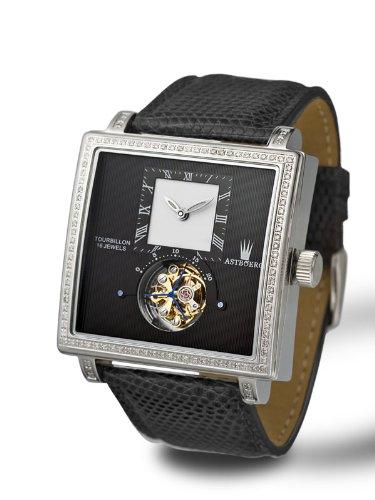 Astboerg Quadrus diamante mens orologio AT811D Tourbillon