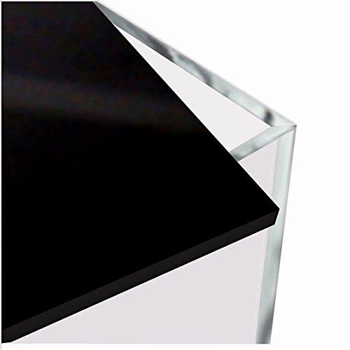HOKU Holzhäuser Kunststofftechnik Acrylbox mit Deckel/Boden in schwarz Grösse : 25cm x 25cm x 25cm Würfel, Acryl/Plexiglas, 5 transparente Seiten, klar