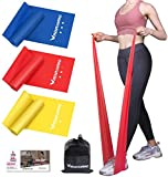 RENRANRING Resistance Bands, Exercise Bands for Physical Therapy, Yoga, Pilates, Rehab and Home Workout, Non-Latex Elastic Bands (Set 3)