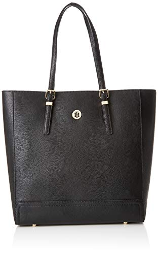 Tommy Hilfiger Dames Honey Finegrain Work Bag Laptop Bag, Zwart (Black), 13x33x32 cm