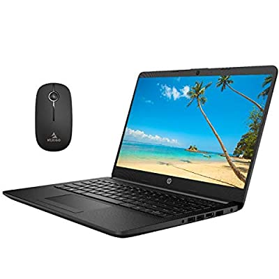 2020 Newest HP 14 Inch Non-Touch Premium Laptop, AMD Athlon Silver 3050U up to 3.2 GHz, 16GB DDR4 RAM, 1TB SSD, WiFi, HDMI, Windows 10 in S, Jet Black + NexiGo Wireless Mouse Bundle