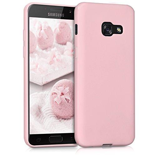 kwmobile Funda Compatible con Samsung Galaxy A3 (2017) - Carcasa de TPU Silicona - Protector Trasero en Rosa Palo Mate