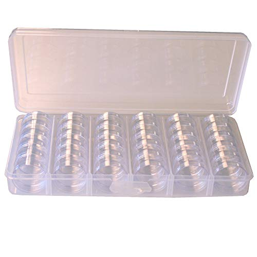 Storage Box Divider Tray 30 Round Stackable Clear Containers Multi-Functional Organizer for Small Items